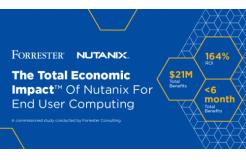 Forrester研究表明Nutanix终端用户计算(EUC),投资回报价值高达164%