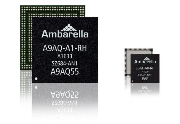 Ambarella推出用于汽车 无人机 VR和运动相机的4K和8K成像芯片