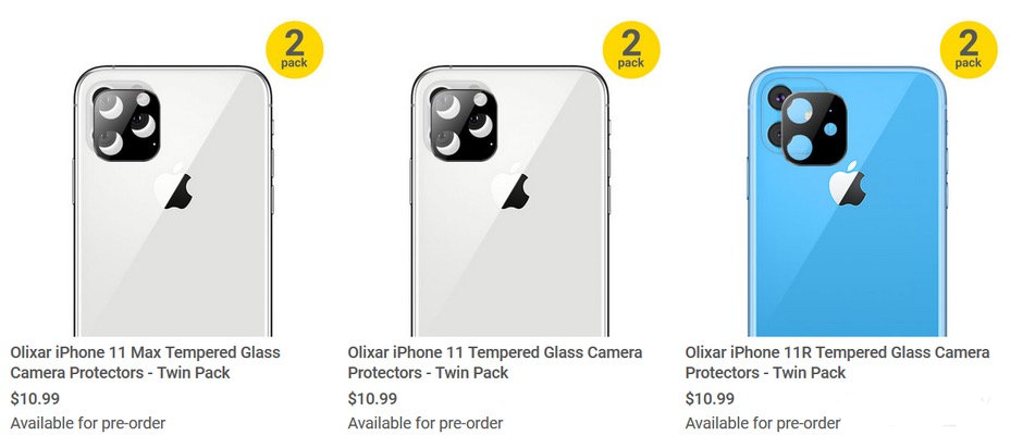 iPhone XI镜头保护膜泄露 电池容量最高或为3650毫安