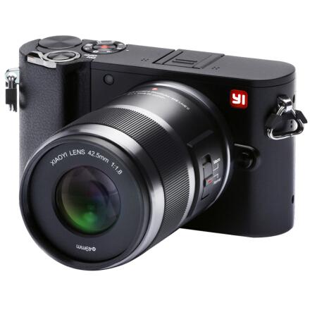 颜控的品质之选小蚁(YI)微单相机M1黑色定焦镜头套装 2016仅售3288.00元